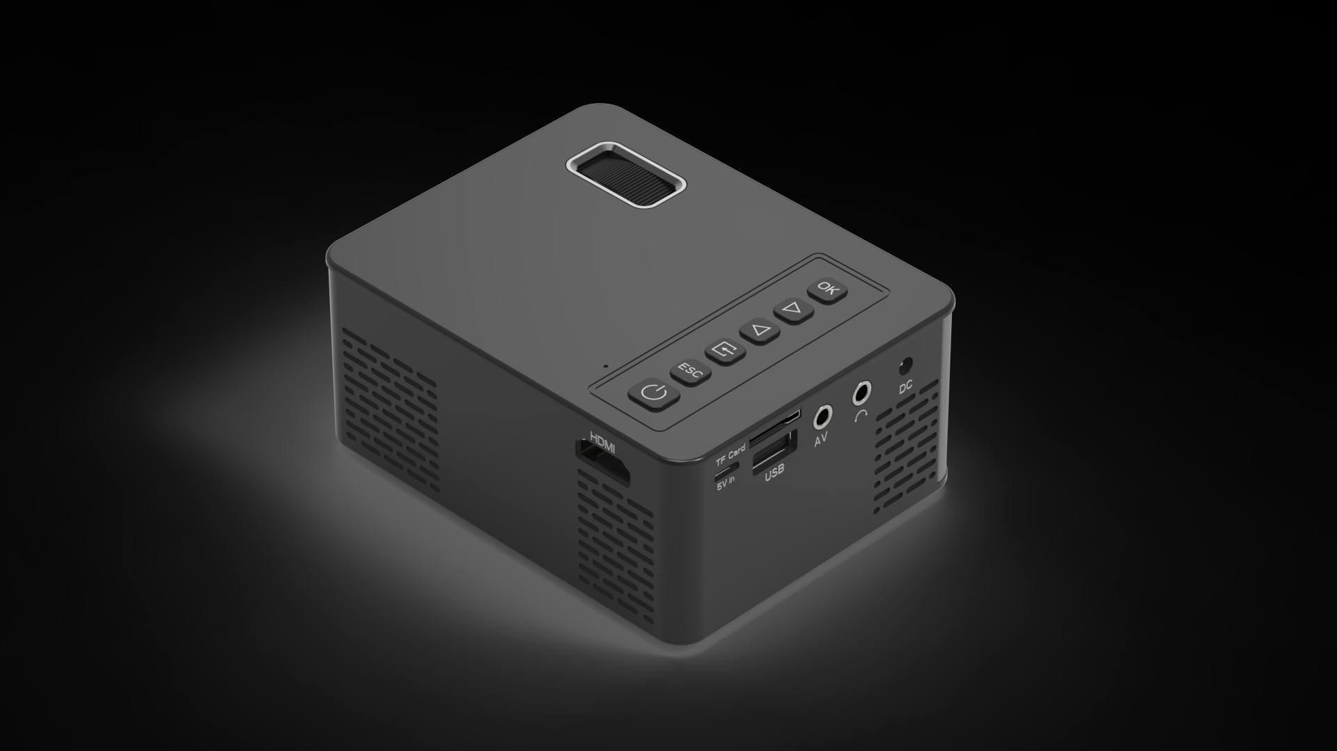2019 neueste Mini Projektor 1280*720P Unterstützung 4K Videos Über HDMI Home Cinema Film FÜHRTE Projektor Portable projektor Video