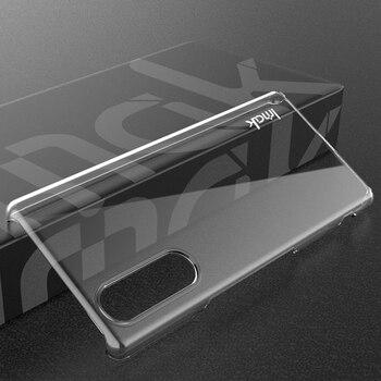 Para Sony Xperia 5 funda imak transparente resistente al desgaste funda dura para Sony Xperia 5 funda de cristal para Sony Xperia 5