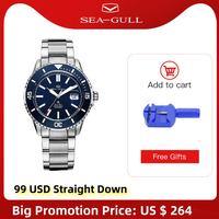 Seagull-Reloj de pulsera para hombre, de negocios, resistente al agua, mecánico, automático, a la moda, Ocean Star 200, 816.523 m