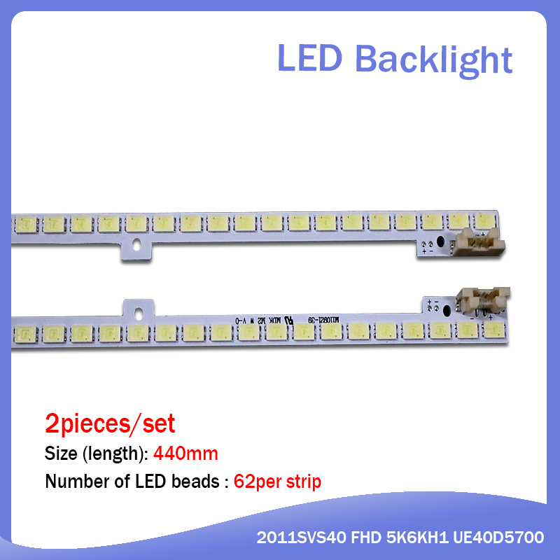 LED Backlight Strip For 2011SVS40 UE40D5000 UE40D5500 UE40D5700 LD400BGC-C2 Ltj400hm03-j Bn96-16606a Bn96-1H1 1CH PV 440mm 62LED