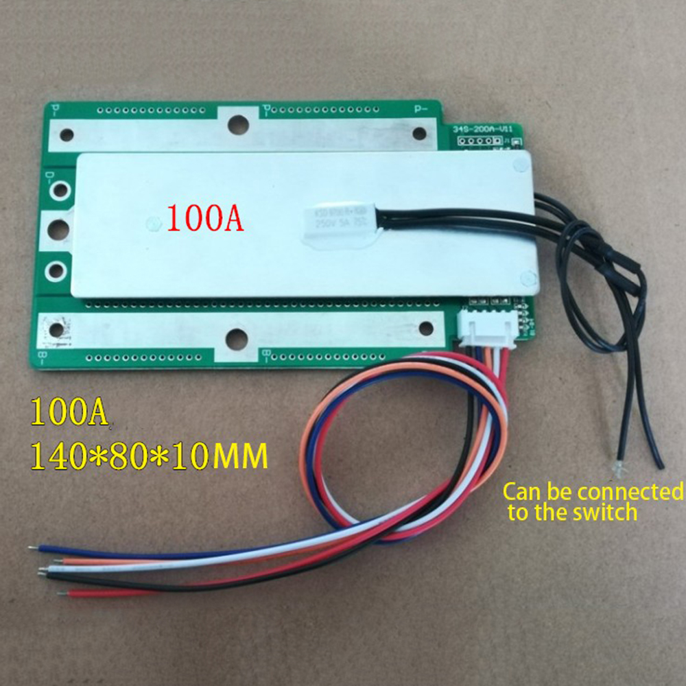<font><b>3S</b></font> <font><b>100A</b></font> 200A 300A 3.7V LifePo3 Unicersal Protection Board Car Start Inverter <font><b>BMS</b></font> PCB Replacce Accessories image