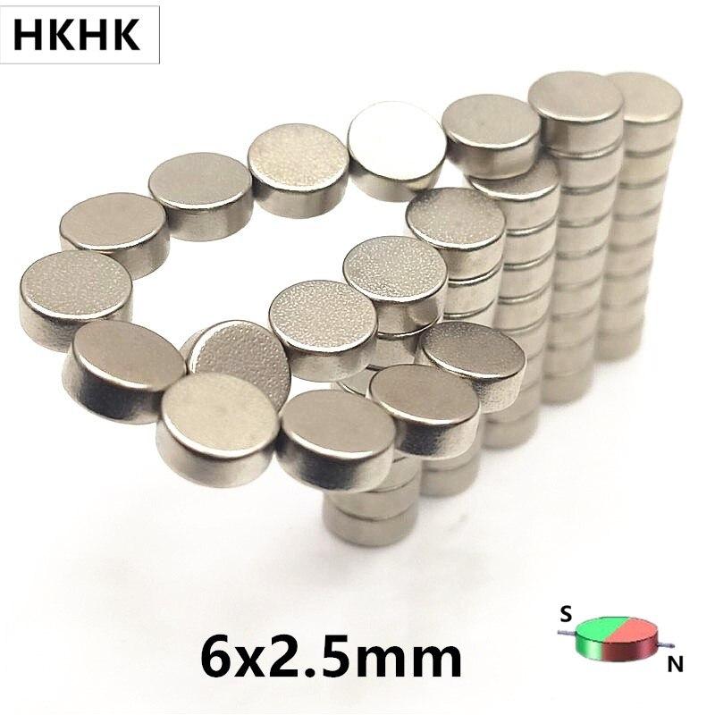 5-100 шт. Магнитный кодер, поддерживающий Сильный магнитный магнит alnico, стандарт 6x2,5 мм 6*2,5 мм для AS5600 AS5045 AS5040 AS5145B