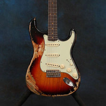 Электрическая гитара sunburst с цветными реликсами высококачественные