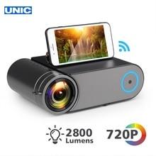 UNIC YG550 1280x720P светодиодный 2800 люменов проектор 1080P Full HD HDMI wifi Bluetooth lcd домашний кинотеатр мини-проектор