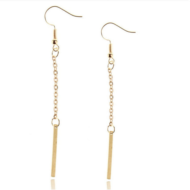 1Pair Sliver Gold Color Dangle Earrings Gift For Women Girl Fashion Jewelry Alloy Bars Drop Dangle.jpg 640x640 - 1Pair Sliver Gold Color Dangle Earrings Gift For Women Girl Fashion Jewelry Alloy Bars Drop Dangle Earring Women