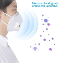 Fast Delivery Hot Sale KN95 Dustproof Anti-fog Breathable Face Masks N95 Mask 95% Filtration Features as FFP2 with Breath Valve