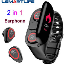2 in 1 Hate Rate Blood Pressure Monitor Sports Band M1 Smart Bracelet Bluetooth Earphone Smartwatch Wristband