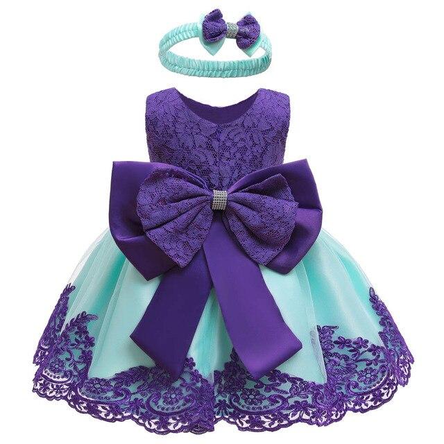 LZH dziewczynek sukienka noworodka koronkowe sukienki księżniczki dla dziecka pierwszy 1 rok sukienka urodzinowa karnawałowy kostium niemowlę Party Dress