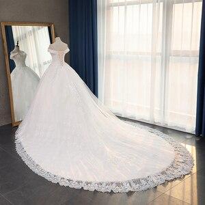 Image 4 - Fansmile jakość długi pociąg Vestido De Noiva koronkowe suknie ślubne 2020 Plus rozmiar spersonalizowany suknie ślubne suknia ślubna FSM 070T
