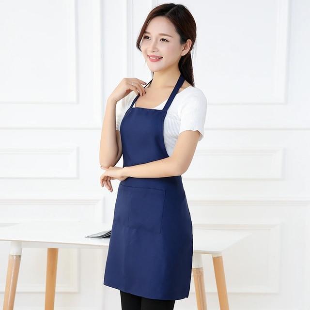 Colorful Cooking Apron Thicken Cotton Sleeveless Chef Clothes Bib Anti-wear Kitchen Salon Bake Universal Apron Household Tool 5