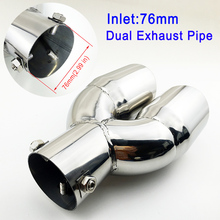 3″ 76mm Diameter Universal Car Tail Pipe Exhaust Muffler Rear Tailpipe Tip Cover Trim Exterior Accessories