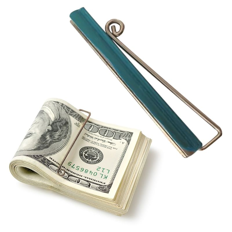 Durable Bifold Money Clip Slim Nickel Plated Anti Rust Wallet Check Cash Credit Card Clamp Holder DIY Tool Purse Accessories