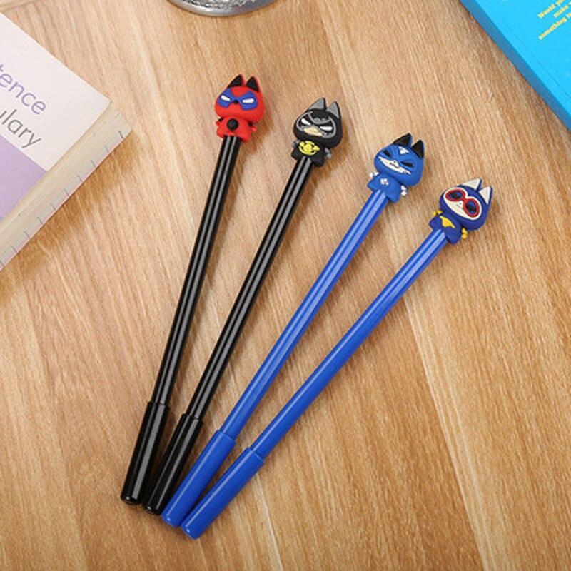 1pcs Cat Pet Man Gel Pen0.5mm Cute Pen Cartoon Stationery Cute Gel Pen Student Novelty Writing Pen Kawaii School Supplies
