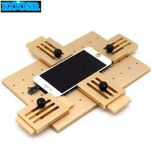 Moule à colle UV LCD en alliage daluminium pour téléphone portable LCD, moule fixe, remplacement, moule à colle UV LCD, support en verre pour iPhone Samsung