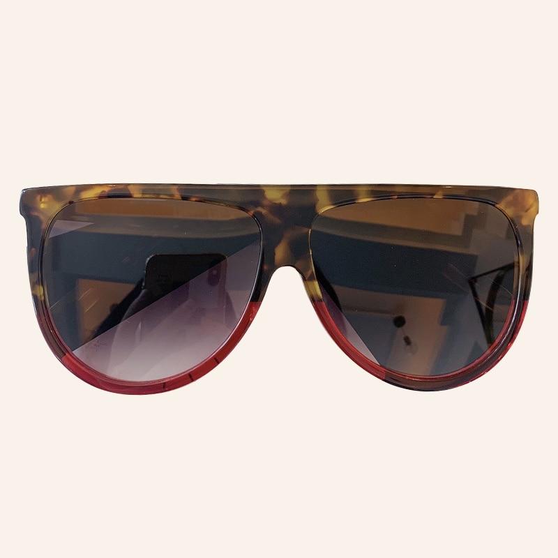 Oversized Sunglasses Women Vintage Brand Designer Square Pilot Luxury Large Shades