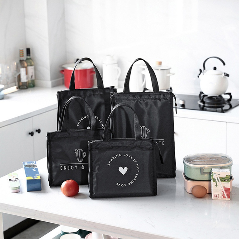 Waterproof And Oilproof Large Capacity Bento Bag Handbag Outdoor Shopping Vegetable Fruit Bag