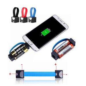 Image 3 - Taşınabilir manyetik AA/AAA pil mikro USB acil durum şarj cihazı Android telefon için