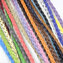 цена на 5 meters Colorful PU Leather Bracelet Findings 5mm flat Leather Cord String Rope DIY Necklace Bracelet Making