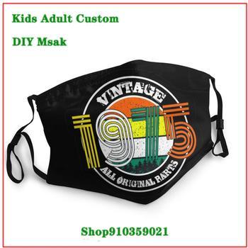 New Design uxury designer face mask Vintage 1975 All Original Parts masque en tissu lavable enfant washable face mask kids