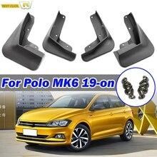 Набор брызговиков для VW Polo AW 6 MK6 Автомобильные Брызговики аксессуары Брызговики
