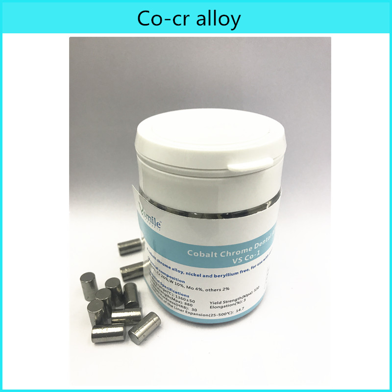 Dental Lab Alloy Materials Cobalt Chrome Co-cr Alloy 1KG For Dental Ceramic Restorations PFM Use