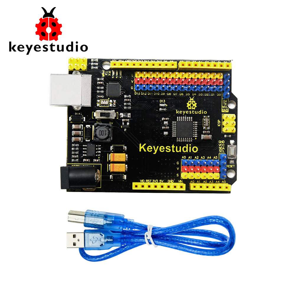 Free Shipping !Keyestudio UNOR3 Official Upgrated Version With Pin Header Interface For Arduino DIY