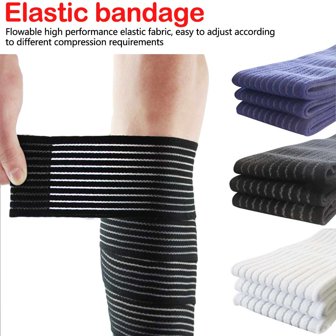 1 Pc Elastic Bandage Compression Knee Support Sports Strap Knee Protector Bands Ankle Leg Elbow Wrist Calf Brace Safety 90~180cm
