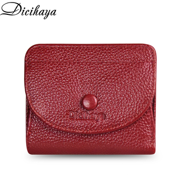 DICIHAYA Small Wallets Women Wallets Short Women's Wallet Genuine Leather Cowhide Guarantee Purse For Famale Coin Purse Wallet