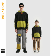 INFLATION Matching Hoodies Family Outfits Father Son Clothes Kids Streetwear Oversized Autumn