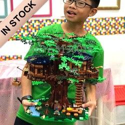 В наличии, 21318 самый большой домик на дереве, включает в себя желтую/зеленую модель в виде листьев, 3117 шт, строительные блоки, 6007 кирпичи, игру...
