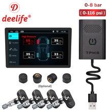 Deelife TPMS Android Sensor de presión de neumáticos Monitor de DVD del coche de ANDROID Auto Radio navegación GPS reproductor Multimedia tics USB
