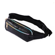 New Fashion Unisex Fanny Pack Belt Bags Female Waist Bags Black Women Make-up Pouch PU Leather Chest Phone Pouch Travel Bag(China)
