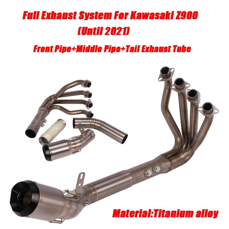 Трубки с полным соединением глушитель выхлопной трубы для kawasaki