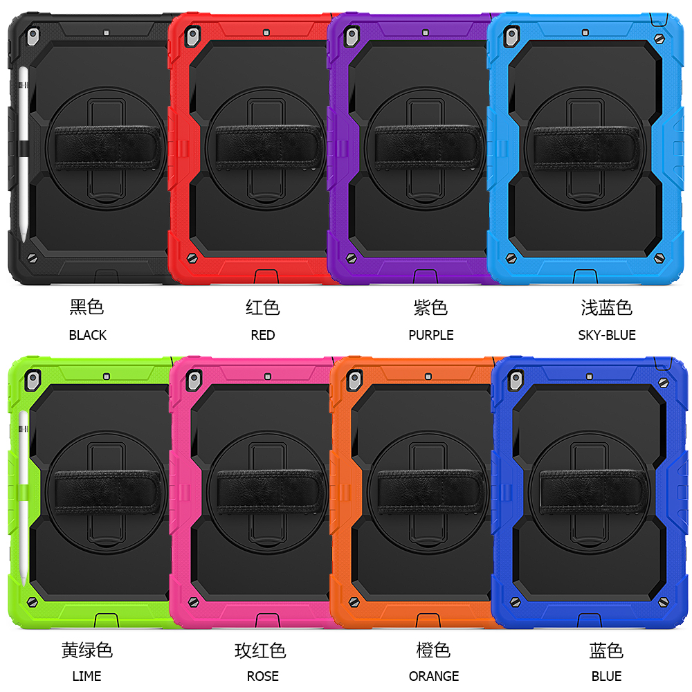 funda straps 8th 7th rotation Stand A2198 cover 360 Kids PC 10.2 Shockproof case For Silicon A2200 A2232 Gen degree iPad 2020
