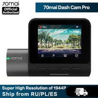 70mai-Cámara de salpicadero Pro con velocidad HD 1944P y módulo GPS coordinada, ADAS 70mai Pro, cámara DVR para coche, Control por voz por WiFi, Monitor de estacionamiento 24H