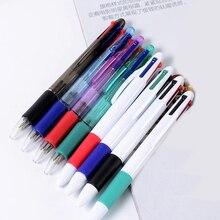 1шт 4 в 1 прозрачный белый креативный пластик шариковая ручка ручка офис бизнес мяч ручка студент подарок