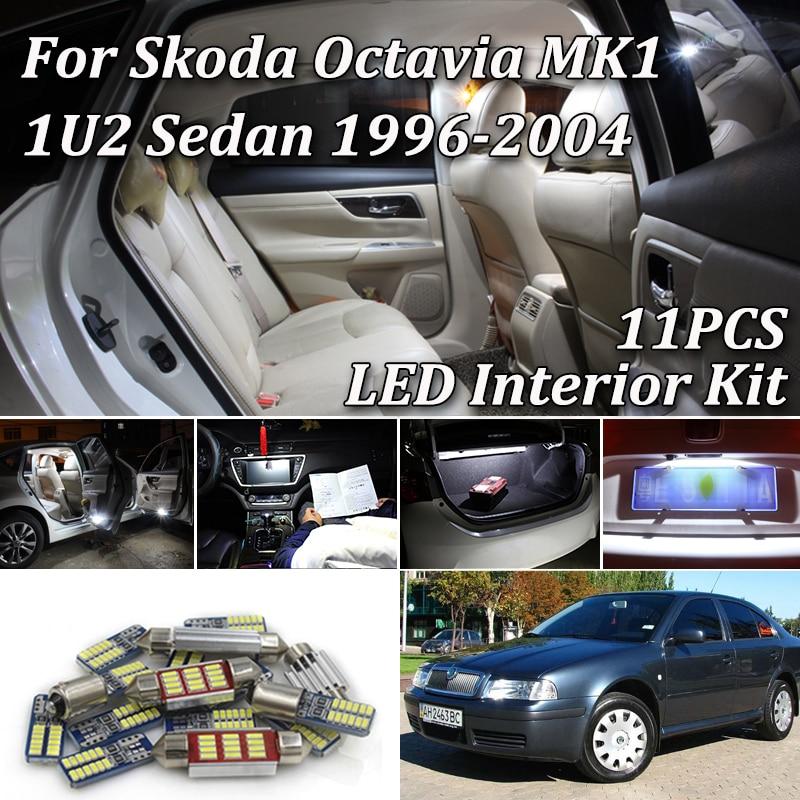 2x Skoda Octavia 1U2 Bright Xenon White LED Number Plate Upgrade Light Bulbs