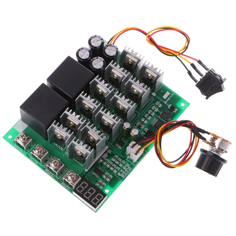 DC 10-55V 12V <font><b>24V</b></font> 36V 48V 55V 100A <font><b>Motor</b></font> Speed Controller PWM HHO RC Reverse <font><b>Control</b></font> Switch with LED Display image