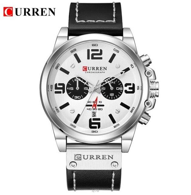 New CURREN 8314 Mens Watches Top Brand Luxury Men Military Sport Wristwatch Leather Quartz Watch erkek saat Relogio Masculino