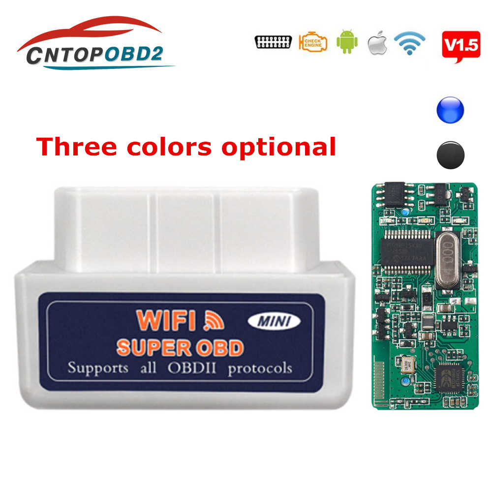 Rushed OBD2 Auto Diagnostics Scanner Wifi ELM327 V1.5 OBD 2 Diagnostic Tool ELM 327 Bluetooth 4.0 For Android/Symbian OBDII