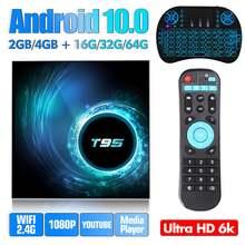 T95 android 100 tv box ultra hd 6k smart 10 телеприставка 4g