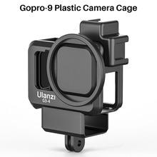 Ulanzi G9 4 GoPro 9 Macchina Fotografica di Plastica Gabbia Per GoPro Hero 9 Caso Alloggiamento Nero con Il Mic e Luce di Riempimento Freddo scarpa Vlog Accessori