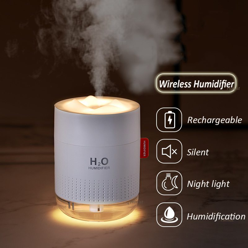 2000mAh Wireless Humidifier Romantic Aromatherapy Humidificador USB Aroma Diffuser Warm Night Lamp Mist Maker Fogger For Bedroom