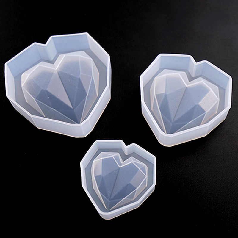 מרובה פרוסה לב בצורת סיליקון תבניות כלים אפוקסי שרף עובש DIY לב תליון ביצוע תכשיטי כלים