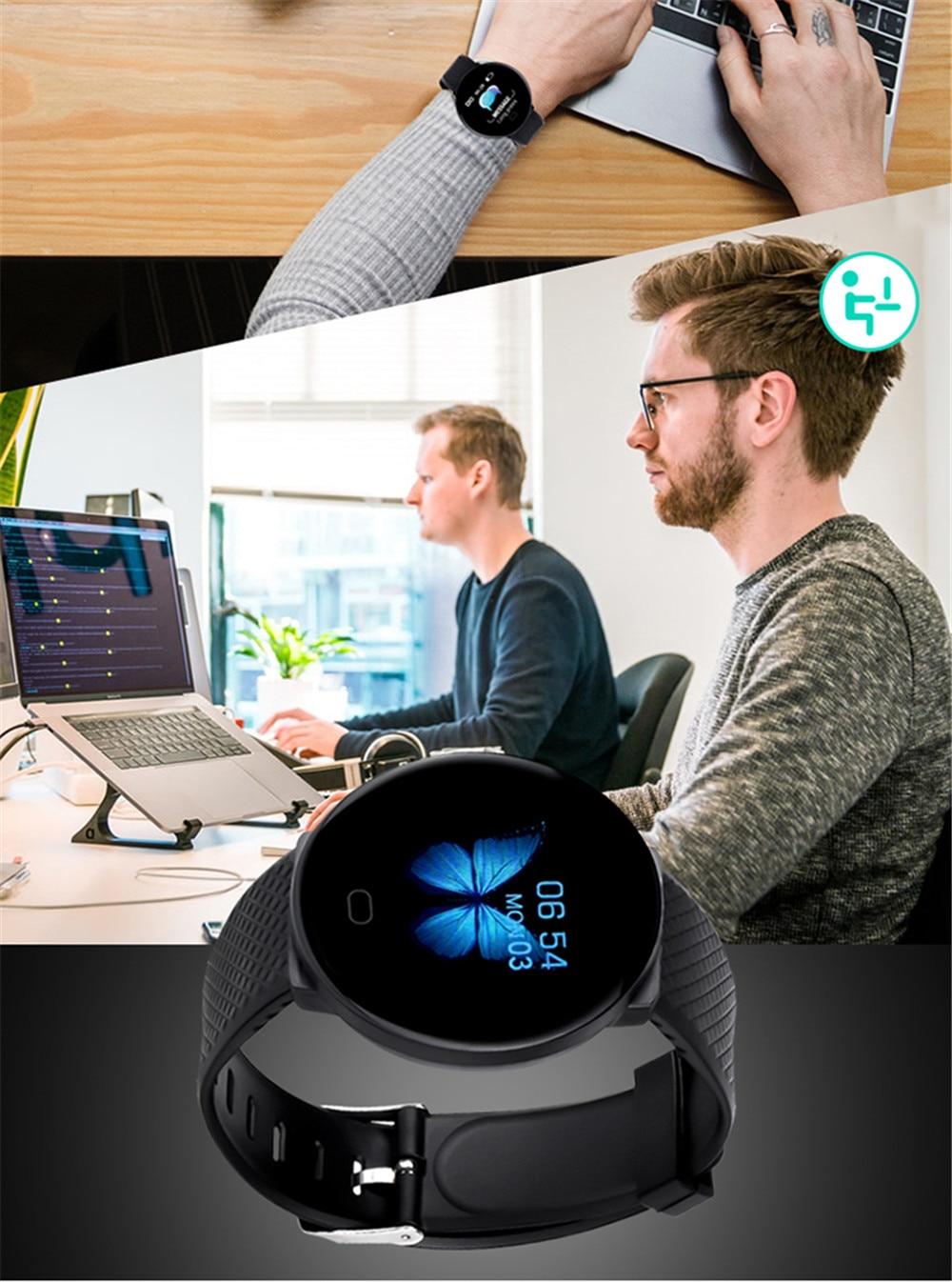 H60007e3d3df840dc8dd6ab0698ccea41q Smart Bracelet 1.3'' Screen Pedometer Fitness Tracker Ip67 Waterproof Blood Pressure Heart Rate Monitor Smart Band Women Men