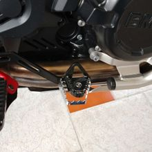Sliver Rear Foot Brake Lever Pedal Enlarge Extension Peg Pad Extender for BM W R1200GS F800GS F700GS F650GS R1150GS