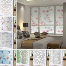100*45cm Waterproof Frosted Opaque Glass Window Film Cover Window Privacy Protective Adhesive Glass Stickers For Bedroom Home