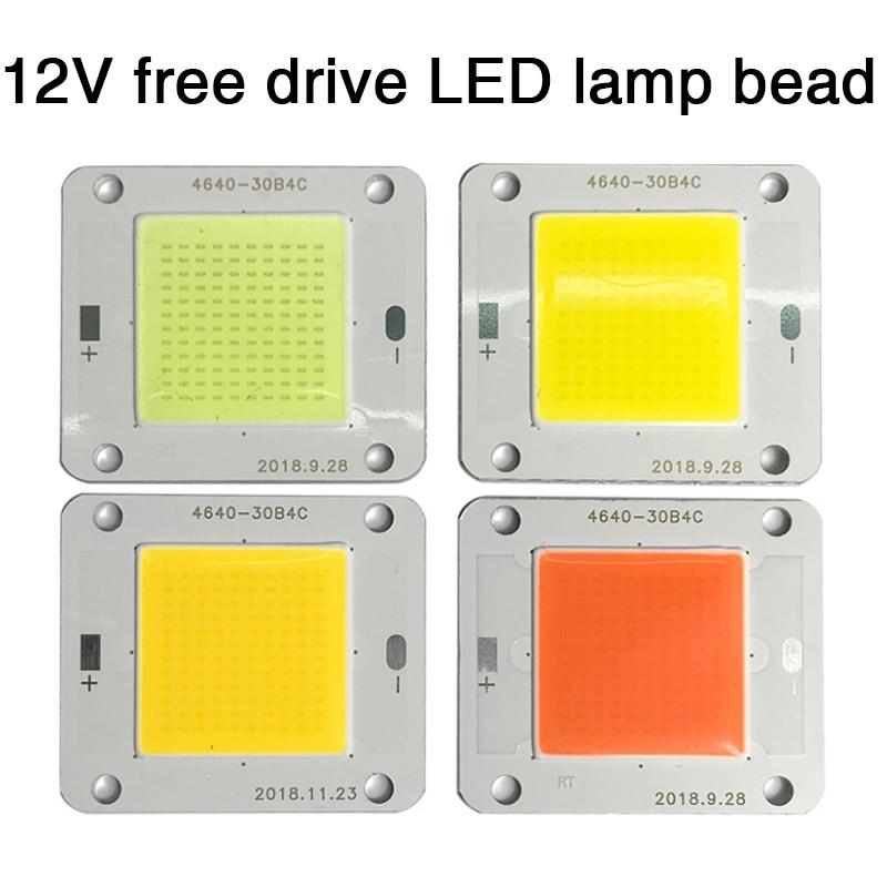 1pcs 30V / 12V 20W - 50W LED Flip Chip COB White 3000~30000K / Full Spectrum For DIY Bulb Light Lamp Floodlight LED Grow Light