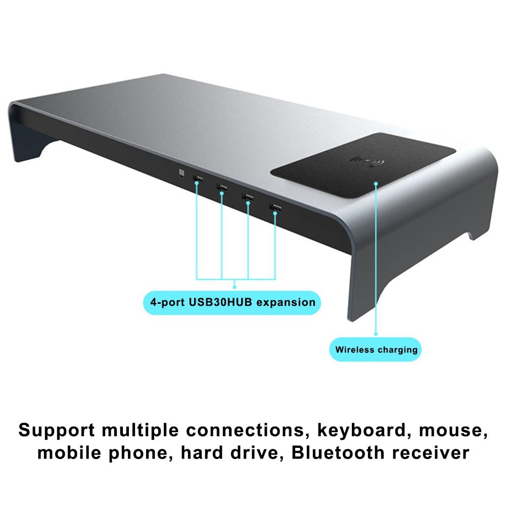 Socle d'ordinateur portable en alliage d'aluminium à Base intelligente avec 4 ports USB 3.0 tu shop