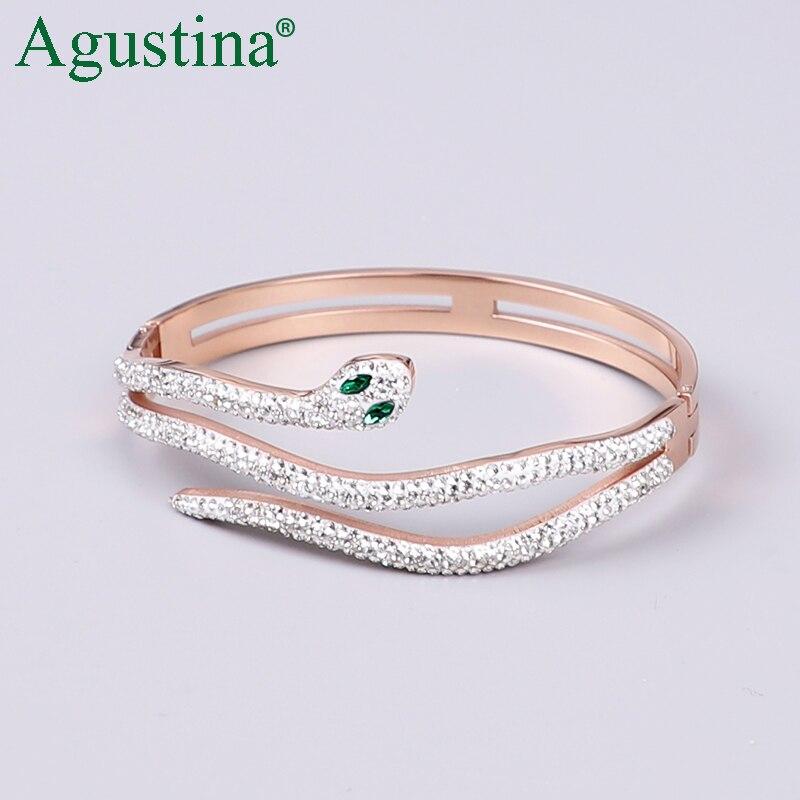 2020 Edelstahl Armband Für Frauen Schmuck Schlange Armband Luxus Rose Gold Armband Femme Armbänder Zubehör Boho Punk